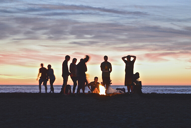 Youth Beach Camping